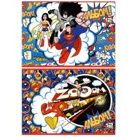 Альбом для рисования ACTION! DC COMICS, уф-лак, 12 л., 2 дизайна