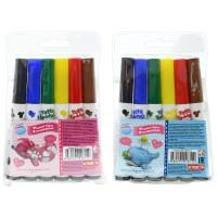 Набор утолщенных фломастеров Blue Nose Friends, 6 цветов, PVC, 2 диз.