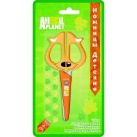 Ножницы детские ACTION! ANIMAL PLANET 130мм, фигурные ручки, печать на лезвиях, картон с е/п, 4 ви