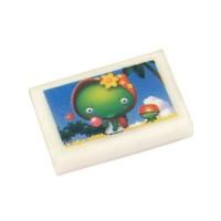 Ластик ВЕСЕЛЫЕ КАРТИНКИ, белый с цветной печатью,28х18х5 мм