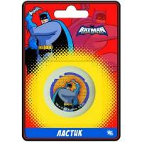 """Ластик ACTION! """"Бэтмен:отважный и смелый"""", круглый, белый с цветной печатью, блистер с е/п, 4 вида"""