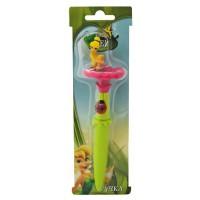 Ручка фея на цветке, DISNEY, ФЕИ, 2 дизайна, блистер с европодвесом