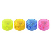 Точилка пластмассовая FANCY, мини, круглая форма, с крышкой 2