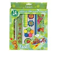 Набор канцелярский FANCY,14 предметов, в карт.упаковке, ассорти 4 цвета