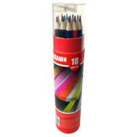 Набор карандашей 18цв., картонный тубус с точилкой