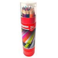 Набор карандашей 24цв., картонный тубус с точилкой