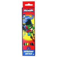 """Набор карандашей цветных ACTION! """"Бэтмен:отважный и смелый"""" ,европодвес, 6 цв."""