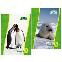 Набор белого мелованного картона ACTION! ANIMAL PLANET, ф. А4, 8 л., 2 дизайна