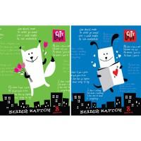Набор белого мелованного картона ACTION! РОМАНТИКА ф. А4, 8 л.,2 диз.