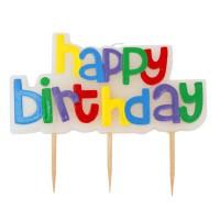 Набор свечей HAPPY BIRTHDAY!, 5 предметов на палочках