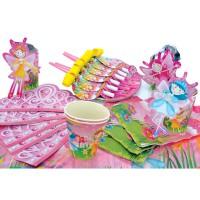 Набор для праздника ФЕИ РАДУГИ, в наборе: 6 тарелок, 6 чашек, 6 салфеток, скатерть 130см*180см, 6