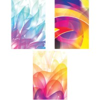 Тетрадь ACTION! ,АБСТРАКЦИЯ, мелованный картон, уф-лак, клетка, ф. А4, 80 л., 3 дизайна