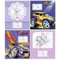 Тетрадь ACTION! CARTOON CARS/CUTIES, мелованный картон, узкая линейка,ф. А5, 12 л.