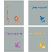 Тетрадь ACTION! НОВЫЙ СТИЛЬ ,мелованный картон, клетка, вд-лак, ф. А5, 96 л.,4 дизайна