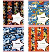 Тетрадь ACTION! DC COMICS, мел. картон, вд-лак, лин., ф. А5, 12 л., 4 дизайна