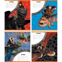 Тетрадь ACTION! DRAGONS, мелованный картон, линейка, ф. А5, 12 л., 4 дизайна
