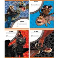 Тетрадь ACTION! DRAGONS, мелованный картон, клетка, ф. А5, 12 л.,4 дизайна