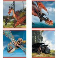 Тетрадь ACTION! DRAGONS, мелованный картон, клетка, ф. А5, 24 л., 4 дизайна