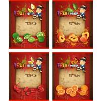 Тетрадь ACTION! FRUIT NINJA, мелованный картон, линейка, ф. А5, 18 л., 4 дизайна