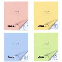 Тетрадь ACTION! LOVE IS, мелованный картон, линейка, ф. А5, 18 л., 4 дизайна