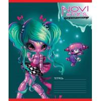 Тетрадь ACTION! NOVI STARS, мелованный картон, клетка,вд-лак, ф. А5, 18 л., 4 дизайна