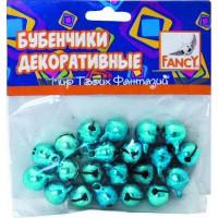 Бубенчики декоративные, 20шт, 3 цвета в ассортименте
