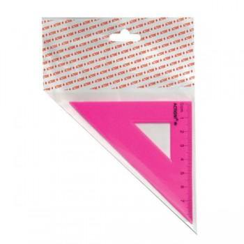 Треугольник 45*, длина 7 см,флюоресцентный,пластиковый,4цв,в инд.пакете с европодвесом