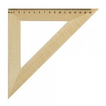Треугольник 45*, длина 16см, деревянный, в инд.пакете с европодвесом
