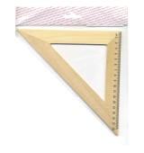 Треугольник 45*, длина 18см,деревянный, в инд.пакете с европодвесом